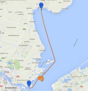 Route Hoorn Y-torenrace Etchells